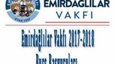 Emirdağlılar Vakfı 2017-2018 Burs Başvurusu