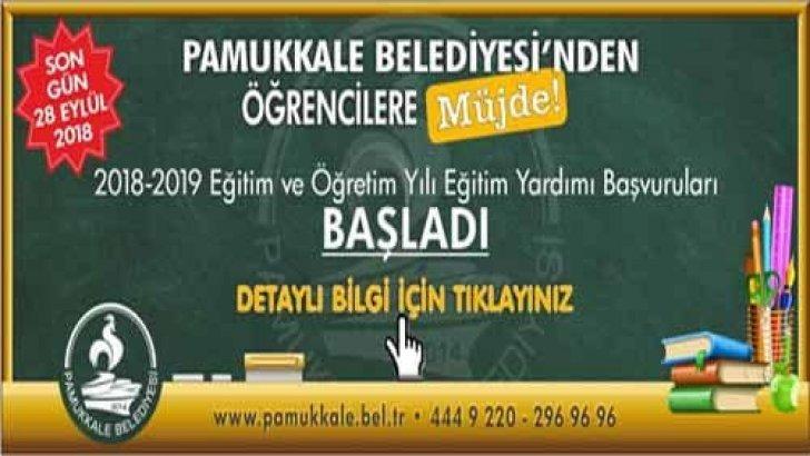 Pamukkale Belediyesi Öğrenci Bursu 2018-2019 Başvuruları